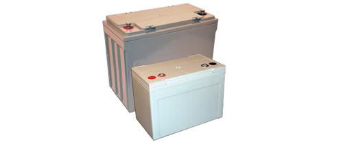 The SWU line of long life lead acid batteries has a 10-year design life, epoxy sealed terminals to prevent post leaks,