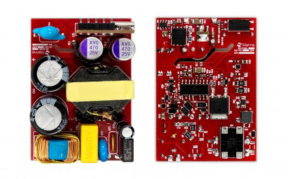 The highly integrated SZ1101 and SZ1105 active clamp flyback controllers from Silanna Semiconductor provide 33W and 65W for AC-DC power supply designs.
