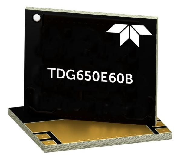 Teledyne e2v HiRel's 650V/60A rugged GaN power HEMT (High Electron Mobility Transistor) is based on technology fromGaN Systems.