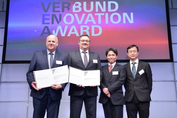 From left: Dr. Manfred Schweinzger, Markus Puff, Masahiro Oishi und Dr. Yongli Wang.