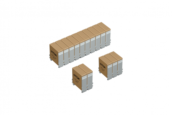 Ceramic capacitors in modular flex-assembly technology