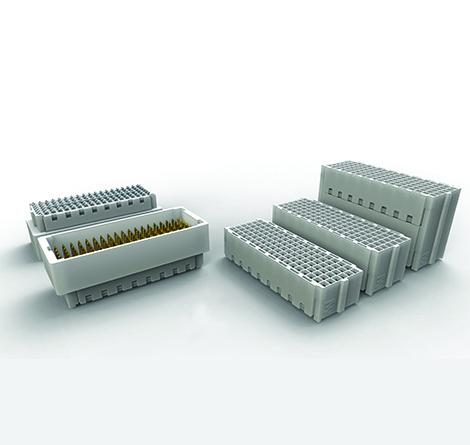 Low force mezzanine connector with 32Gbit/s for embedded computing