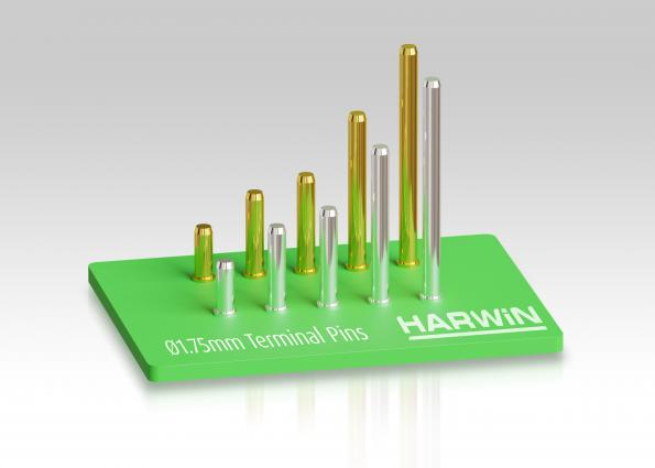 Harwin's 1.75mm diameter terminal pins carry 9A for power applications