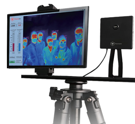 The Thermis thermal camera uses machine learning to identify the temperature of up to six people per frame to within 0.5°C