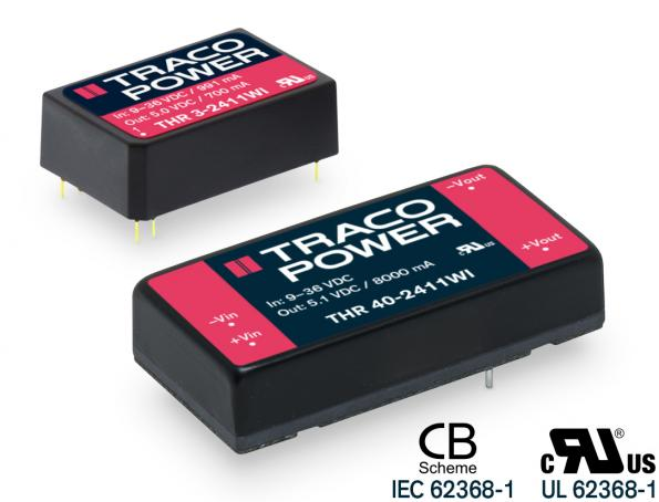 Reinforced DC-DC converter with 3000Vac isolation