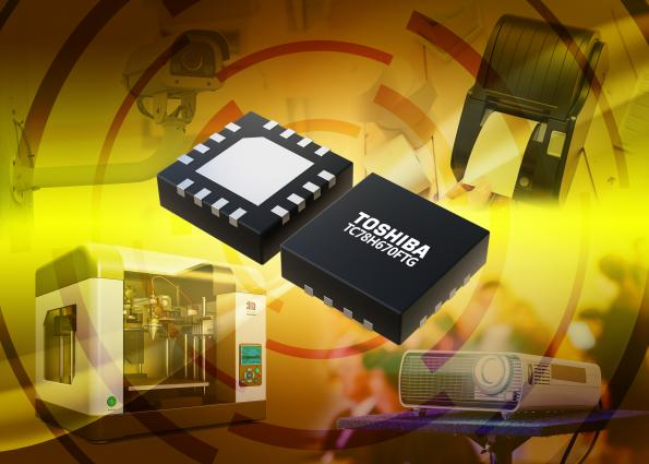 Toshiba has added to its family of micro-stepping motor driver ICs with a dual-channel high-resolution motor driver IC that can handle a range of operating voltages.