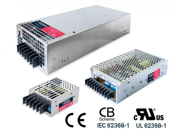 AC-DC converter series in metal casing runs from 18 to 960W for industrial applications