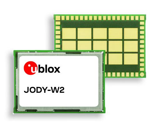 u-blox has introduced the JODY-W2 multiradio module, a feature-rich and compact wireless module for automotive applications.