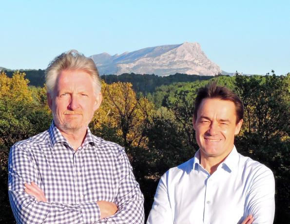 Pacal Boulanger, COO and chairman of Nawa Technologies (right) with Ulrik Grape, newly appointed CEO
