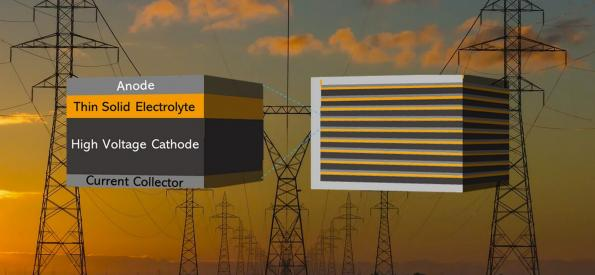 Solid state silicon battery boost for storage systems