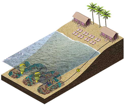 Vicor is using its DC-DC converter technology for a system that can rebuild a coral reef