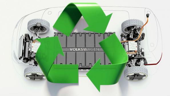 VW sets up  pilot battery recycling plant