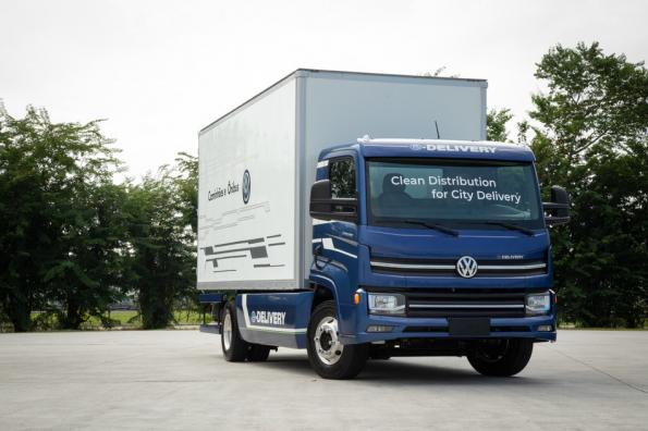 VWCO's e-Delivery truck with CATL battery inside
