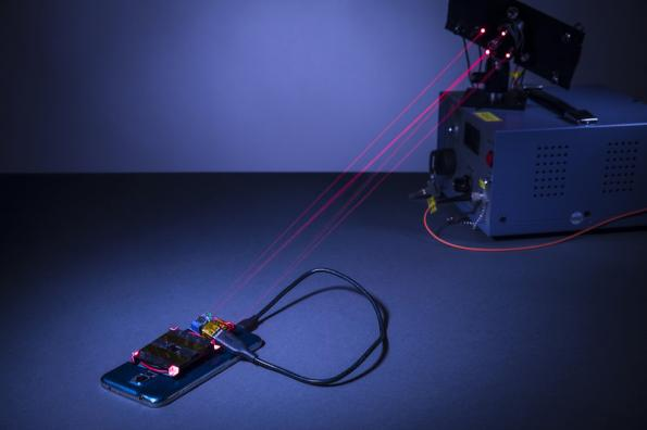 Wireless charging with a laser