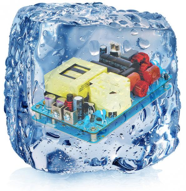 PSU in 3x5 package provides 250W conduction-cooled and 550W fan-cooled