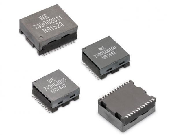 10-Gbit LAN transformers support PoE