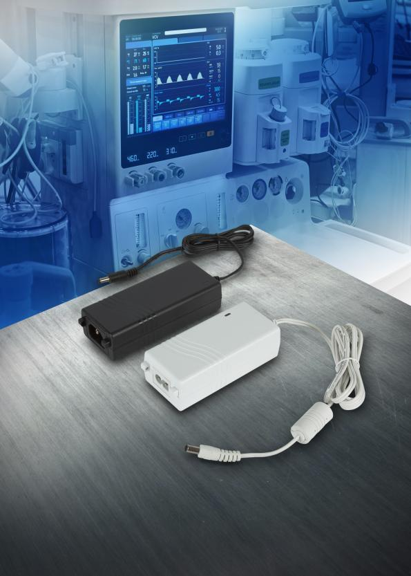 65W desktop AC-DC supplies have medical and industrial approvals
