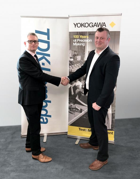 Left: Sean Evans TDK-Lambda and (right) Lee Thomas UK Sales Manager Yokogawa UK Ltd
