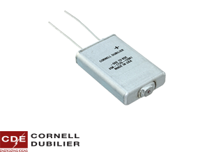 Cornell Dubilier's highest energy density electrolytic in a very low-profile design